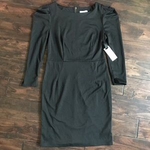 BB Dakota Long Sleeve Black Fitted Dress Back Zip